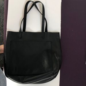 Madewell medium transport tote black